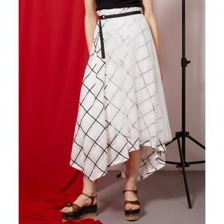 アウラアイラ(AULA AILA)のAULA シアーバイアスチェックスカート(ひざ丈スカート)