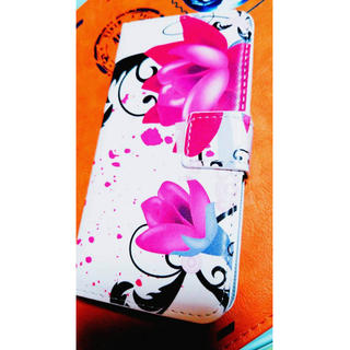 花柄。ピンクフラワー。手帳型。大人可愛い。iPhone7。シック。送料無料(iPhoneケース)