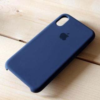 iPhone X シリコーンケース ミッドナイトブルー(iPhoneケース)