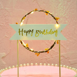 フランフラン(Francfranc)の誕生日 かざり 飾り ケーキ ケーキトッパー(ガーランド)