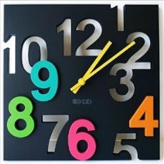 ★おしゃれ★ 壁掛け時計 ウォールクロック カラフル 個性派 立体 アート(掛時計/柱時計)