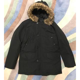 ムジルシリョウヒン(MUJI (無印良品))の無印良品ダウンジャケットファーコートサイズLおすすめ黒(ダウンジャケット)