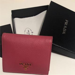 プラダ(PRADA)の  PRADA プラダ 財布 二つ折り 牛革 サフィアーノ(財布)