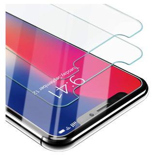 iphone x ガラスフィルム【2枚入り】(保護フィルム)