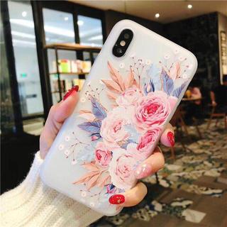14 華麗 バラ ブーケ 花束柄 アイフオン アイフォン ケース カバー(iPhoneケース)