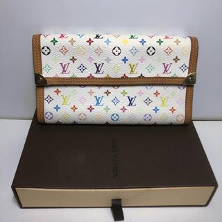 ルイヴィトン(LOUIS VUITTON)のLouis Vuitton ヴィトン マルチカラー 三つ折り 長財布 美品(財布)