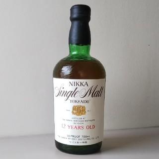 ニッカウイスキー(ニッカウヰスキー)の激レア! ニッカ シングルモルト 北海道 12年 (特級表示、終売品)(ウイスキー)