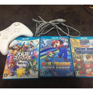 Wii U - Wiiu ソフト 大乱闘 マリオテニス コントローラー