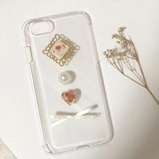 かすみ草 ドライフラワー iPhoneケース(スマホケース)