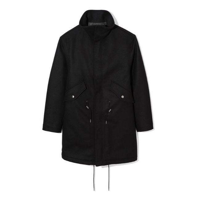 DIESEL(ディーゼル)のDiesel Black Gold Jomnia スタンドカラー ウールコート メンズのジャケット/アウター(ミリタリージャケット)の商品写真