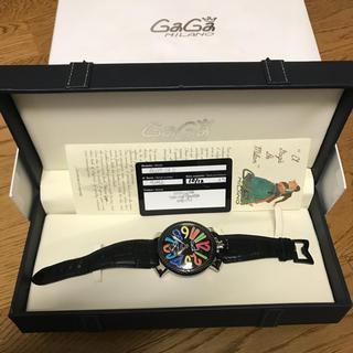ガガミラノ(GaGa MILANO)のガガミラノ  カーボン 48 腕時計 正規品(腕時計(アナログ))
