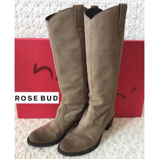 ローズバッド(ROSE BUD)のROSEBUD ローズバッド購入nana スエードロングブーツ(ブーツ)