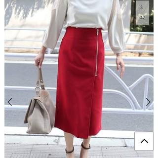 ノーブル(Noble)の【美品】Noble 2018AW ジップタイトスカート(ひざ丈スカート)