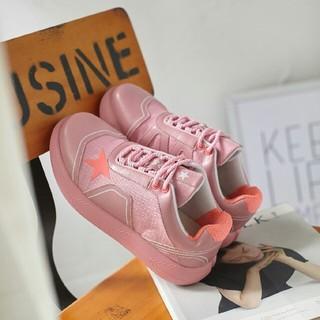 スニーカー 本革 pink 24.0cm(スニーカー)