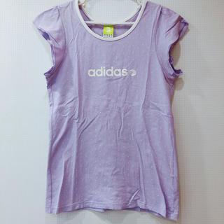 アディダス(adidas)の新品 adidas 半袖 ティーシャツ パープル 水玉 ブランド スポーツウェア(Tシャツ(半袖/袖なし))