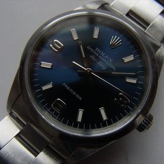 ロレックス(ROLEX)のROLEX エアキング 14000 青文字盤(腕時計(アナログ))