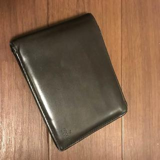 グッチ(Gucci)のGUCCI 約8万円 黒に近いダークブラウンレザー財布(折り財布)