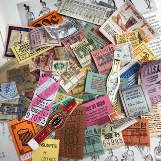 海外チケット 60枚 コラージュセット(印刷物)
