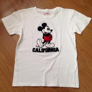 ディズニー(Disney)のミッキー 刺繍 Tシャツ Sサイズ(Tシャツ(半袖/袖なし))