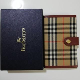 バーバリー(BURBERRY)のバーバリー Burberry 手帳 手帳カバー レフィル式 チェック 赤(その他)