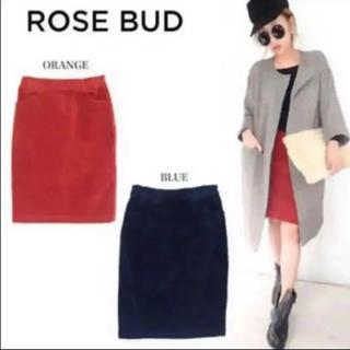 ローズバッド(ROSE BUD)のROSE BUD★コーデュロイスカート(ひざ丈スカート)