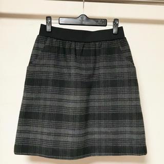 シマムラ(しまむら)のしまむらZIPファスナーチェック冬スカート☆(ミニスカート)