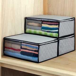 大掃除に大活躍!ストレージスタイル 衣類 整理袋 3枚組 グレー 活性炭(ケース/ボックス)