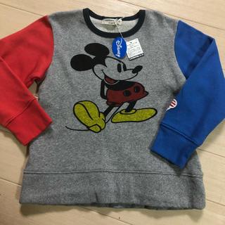 ディズニー(Disney)のタグ付きミッキートレーナー(Tシャツ/カットソー)