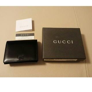 グッチ(Gucci)のグッチ【GUCCI】三折り財布☆黒☆新品(折り財布)