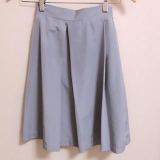 ジルスチュアート(JILLSTUART)のJILL JILLSTUART フレアスカート 水色 リボン (ひざ丈スカート)