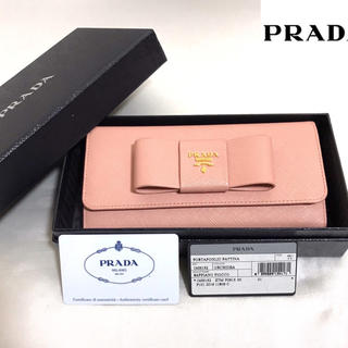 プラダ(PRADA)の美品✨プラダ サフィアーノ リボン 長財布(財布)