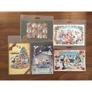 ディズニー(Disney)の新品 ディズニー クリスマス 2018 ポストカード 全5種セット(キャラクターグッズ)