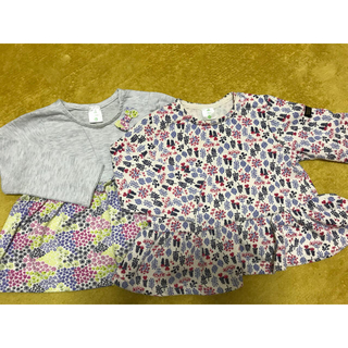 ディズニー(Disney)のカットソー2枚と半袖のセット✳︎90㎝✳︎Disney baby(Tシャツ/カットソー)