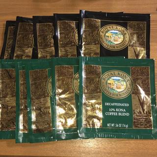 コナ(Kona)のコナコーヒー カフェインレス レギュラー 10袋セット ハワイ直送(コーヒー)