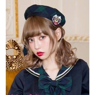 アンジェリックプリティー(Angelic Pretty)の【新品】Bunnyガレッジベレー(グリーン)(ハンチング/ベレー帽)