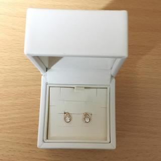 ヨンドシー(4℃)の4℃ k10ピンクゴールド キュービックジルコニアピアス (箱なし)(ピアス)
