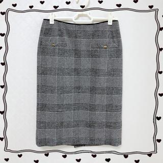 トゥモローランド(TOMORROWLAND)の流行チェックタイトスカート♡新品(ひざ丈スカート)