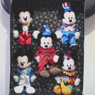 ディズニー(Disney)の☆お値下げしました【TDL ミッキーぬいぐるみバッチ 5体セット 】(ぬいぐるみ)