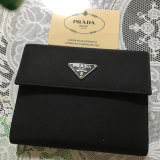 プラダ(PRADA)のプラダ  折り畳み財布  ブラック(財布)