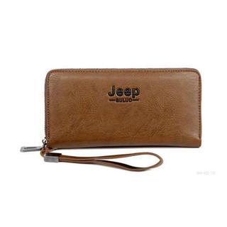 新品 メンズ JEEP BULUO PUレザー 長財布 大人気 ブランド 機能性(長財布)