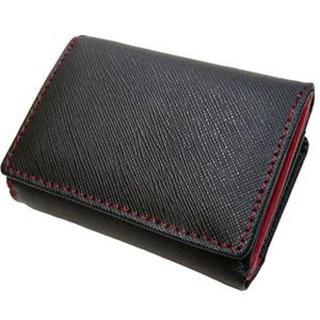 コンパクト!粋な牛革イタリアンレザー三つ折り財布 [ Maturi 0581 ](折り財布)