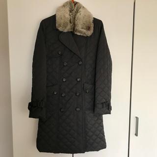 ザラ(ZARA)のトレンチ型 キルティングコート チャコールグレー☆ZARA H&M など好きな方(ロングコート)