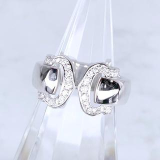 カルティエ(Cartier)の【仕上済】カルティエ  ブークルセリング K18WG 7号 ダイヤ 宝石鑑定書(リング(指輪))
