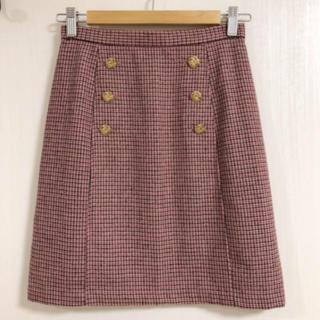 Lily Brown - Lily Brown ダブルボタン台形スカート
