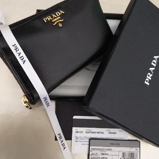 プラダ(PRADA)の【美品】PRADAプラダ ラウンドファスナー財布サイファ-ノ(財布)