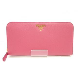 プラダ(PRADA)の【新品同様】PRADA ラウンドファスナー型 財布 ピンク(財布)