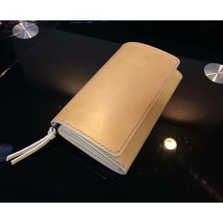 革財布/牛ヌメ革(ライトブラウン) コンパクトハーフウォレット(折り財布)