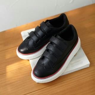 スニーカー 本革 ハイカット 23.5cm 黒(スニーカー)