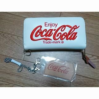 コカコーラ(コカ・コーラ)のコカコーラ 長財布 チェーン付ウォレット 白   (長財布)