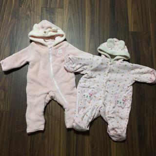 新生児 赤ちゃん 裏起毛 カバーオール 60-70
